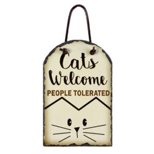 CATS WELCOME SLATE