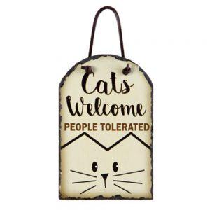 CATS WELCOME SLATE